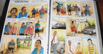 l'un des livres de bande dessinée de l'artiste Jussie Nsana